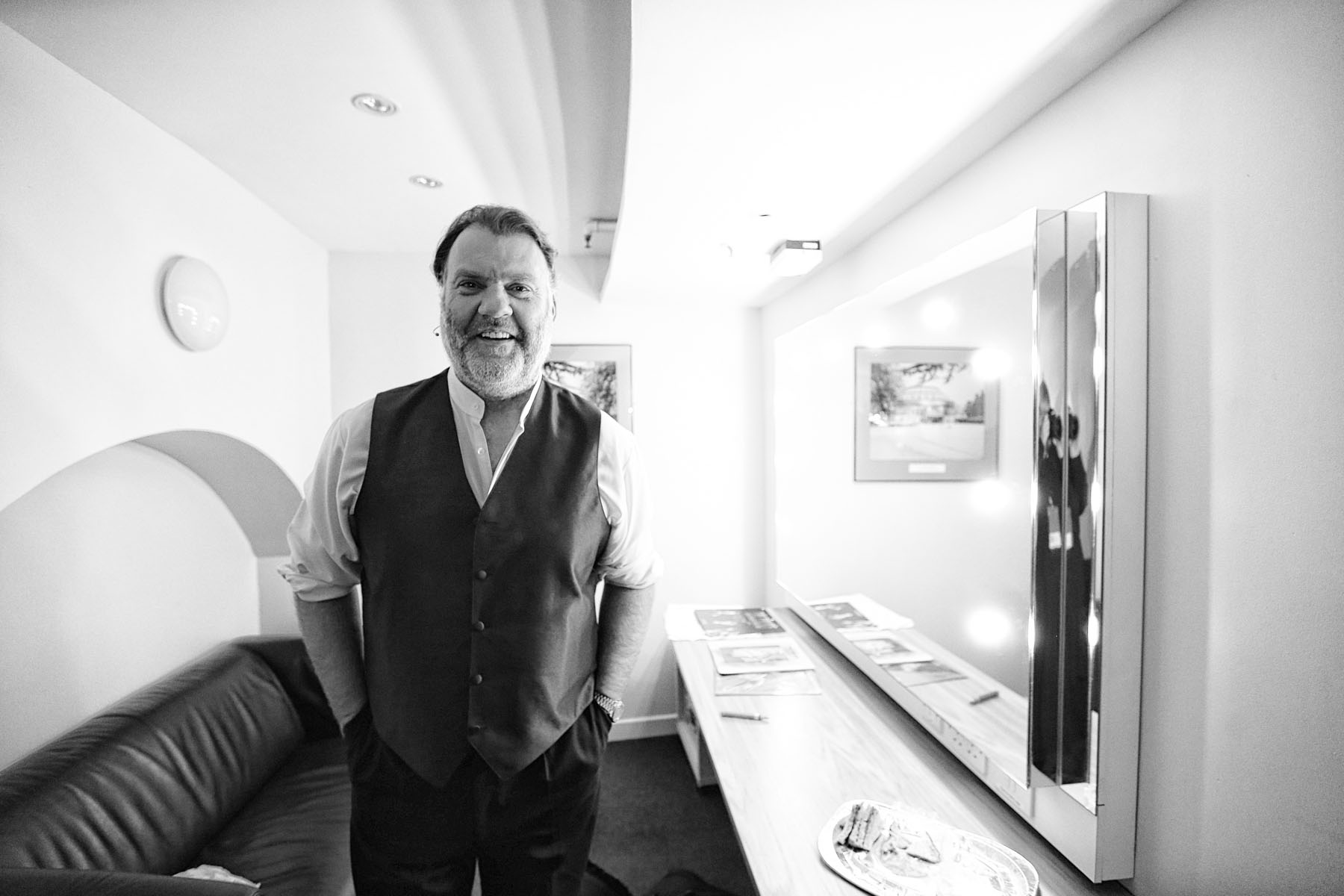 Bryn Terfel backstage at the Royal Albert Hall by Christie Goodwin