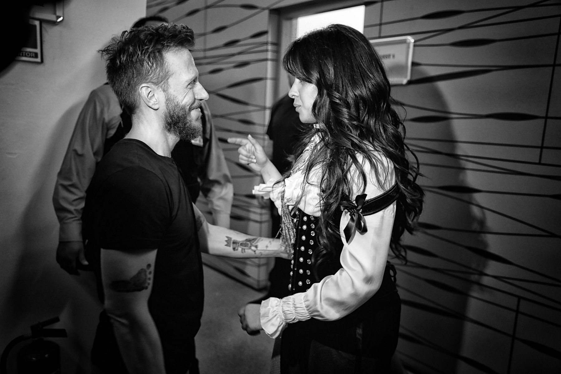 Noel Schajris and Camila Cabello backstage in Mexico by Christie Goodwin