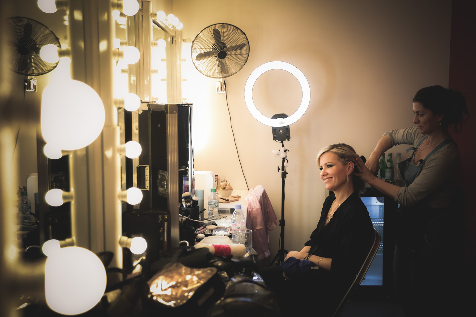 Dido backstage by Christie Goodwin