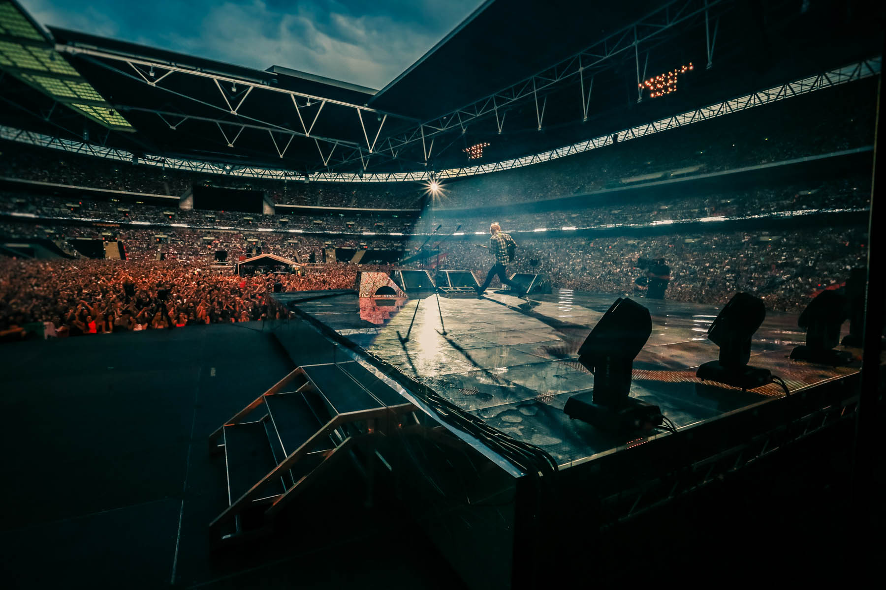 Ed Sheeran at Wembley Stadium by Christie Goodwin