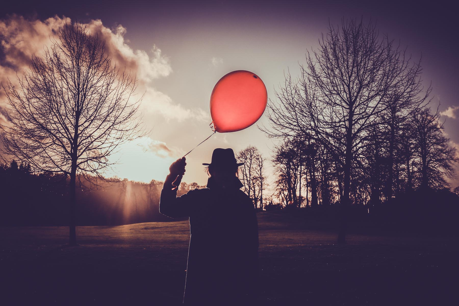 Hatman and a Balloon by Christie Goodwin