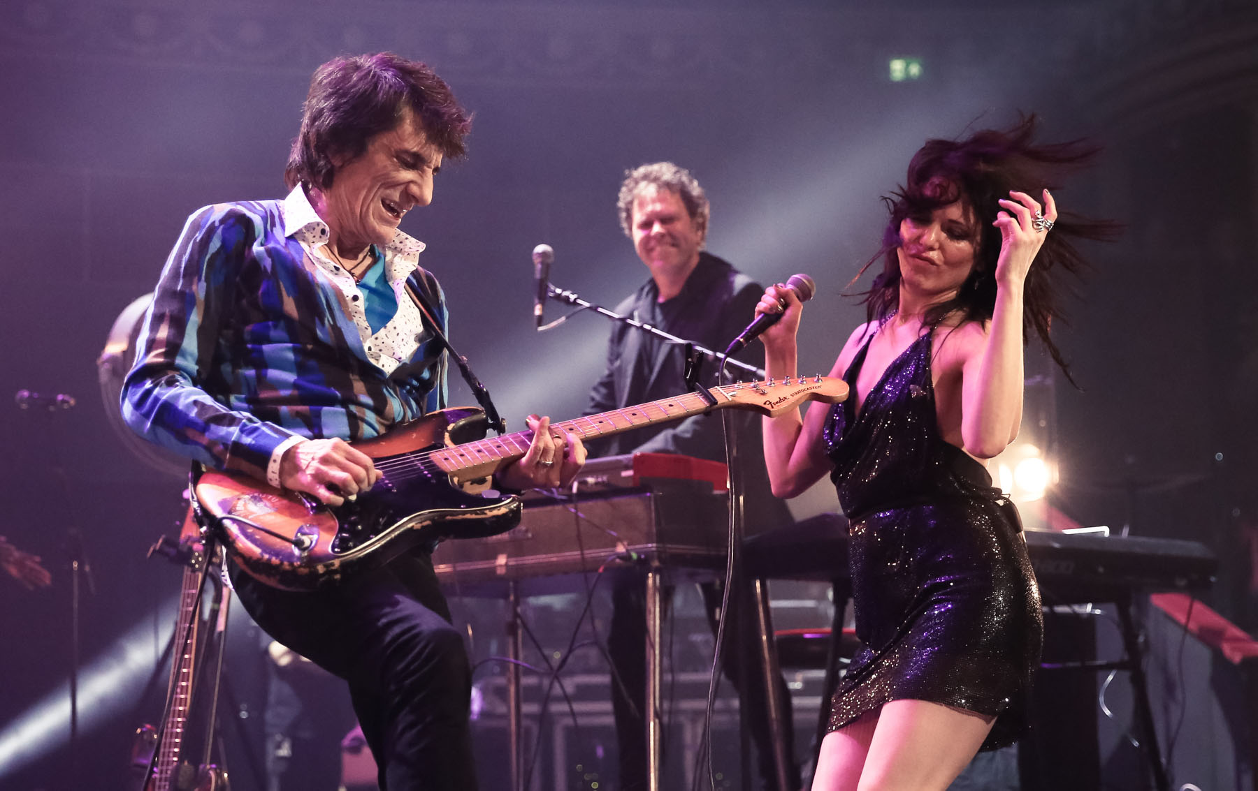 Ronnie Wood and Imelda May at the Royal Albert Hall by Christie Goodwin
