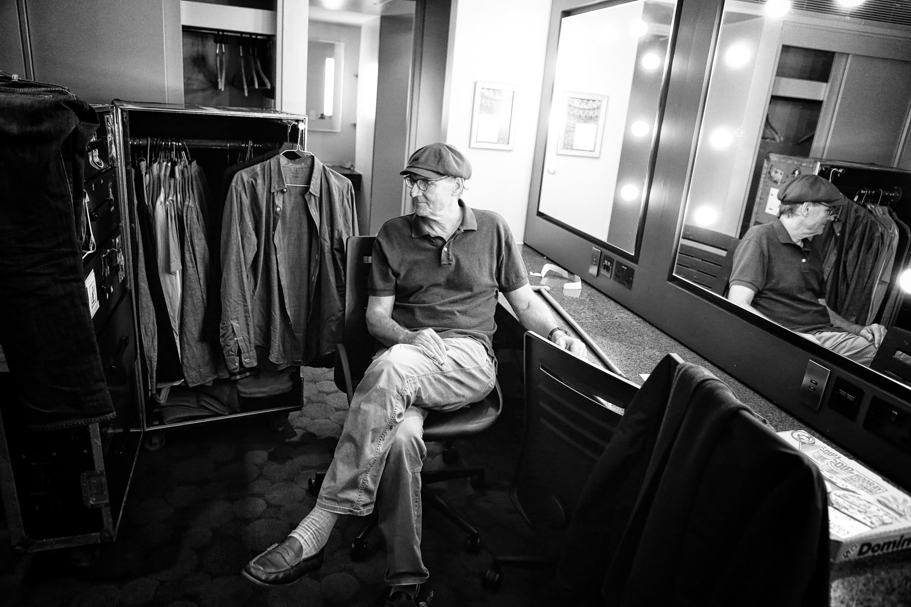 James Taylor backstage at the Royal Albert Hall by Christie Goodwin
