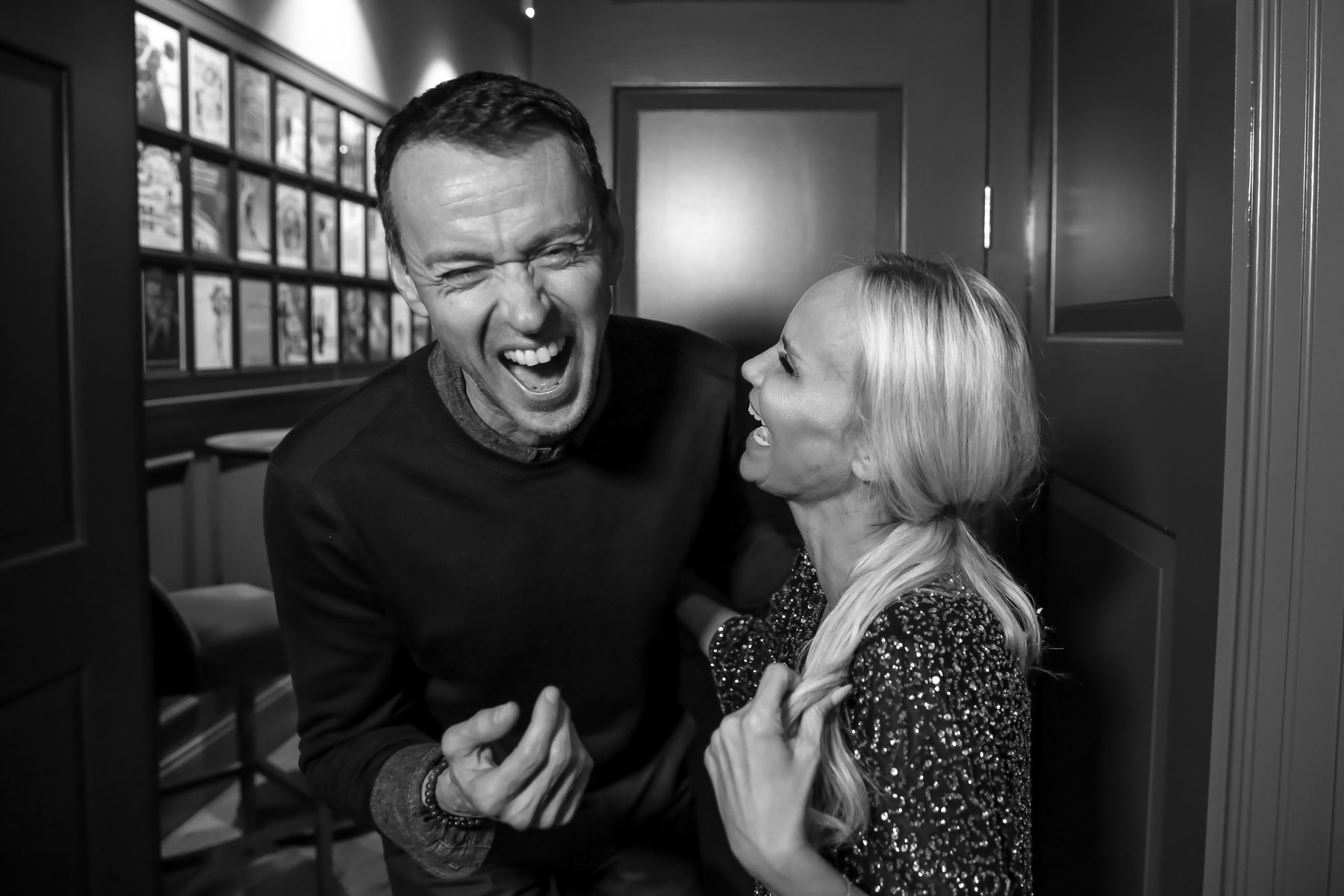 Andrew Lippa and Kristin Chenoweth backstage by Christie Goodwin