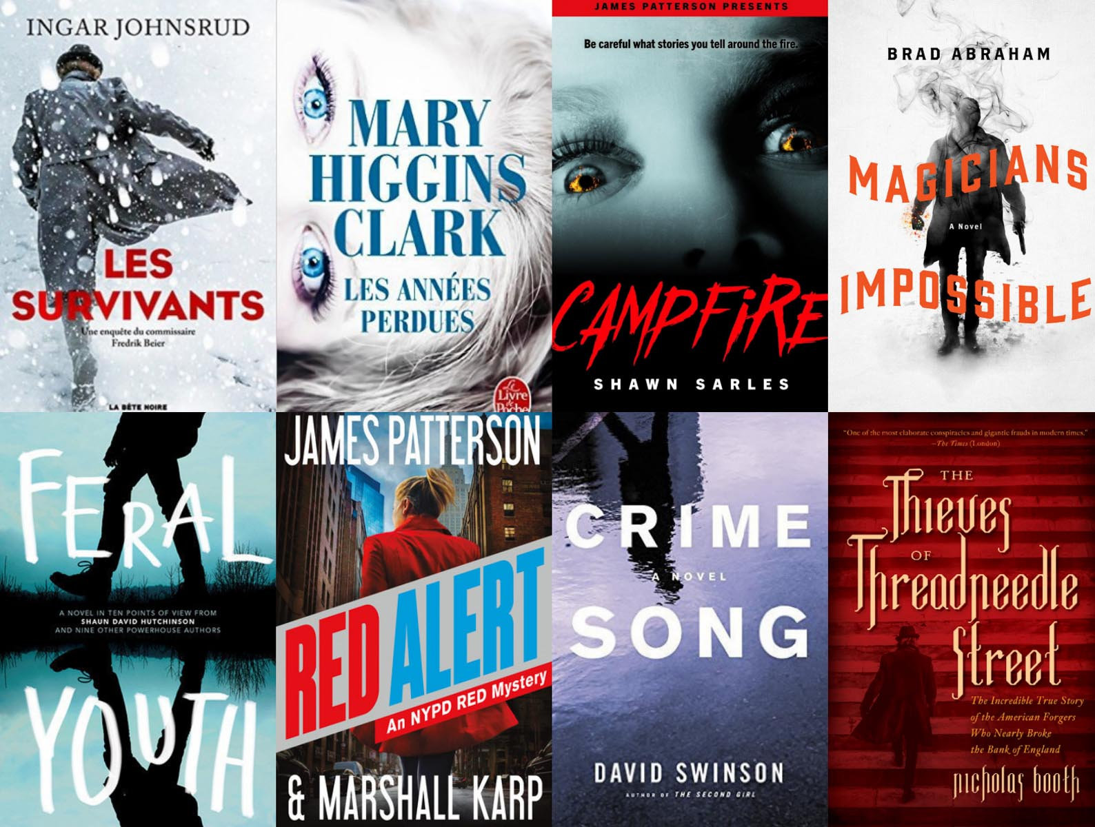 Eight book covers by Christie Goodwin