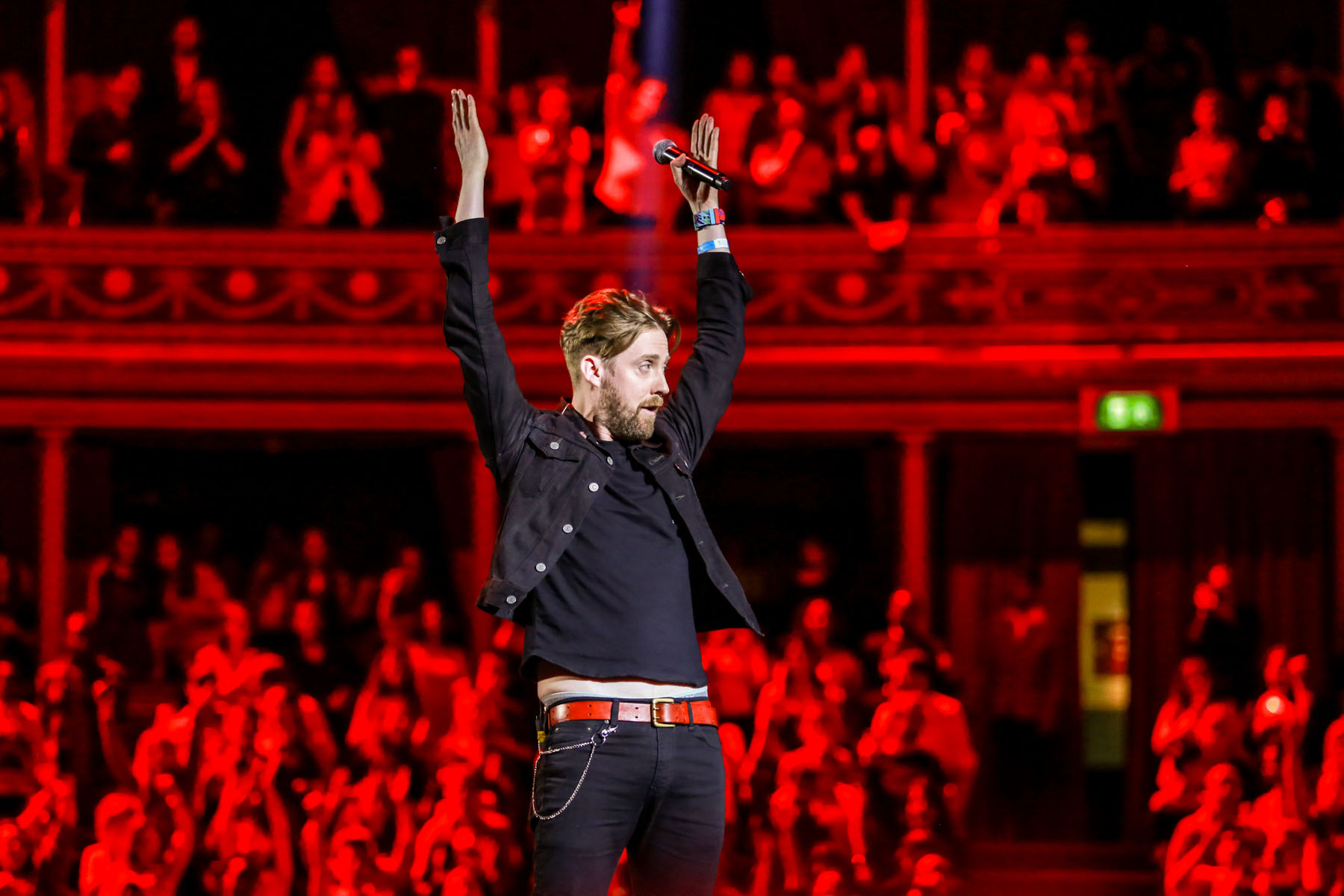 Ricky Wilson of Kaiser Chiefs at the Royal Albert Hall by Christie Goodwin